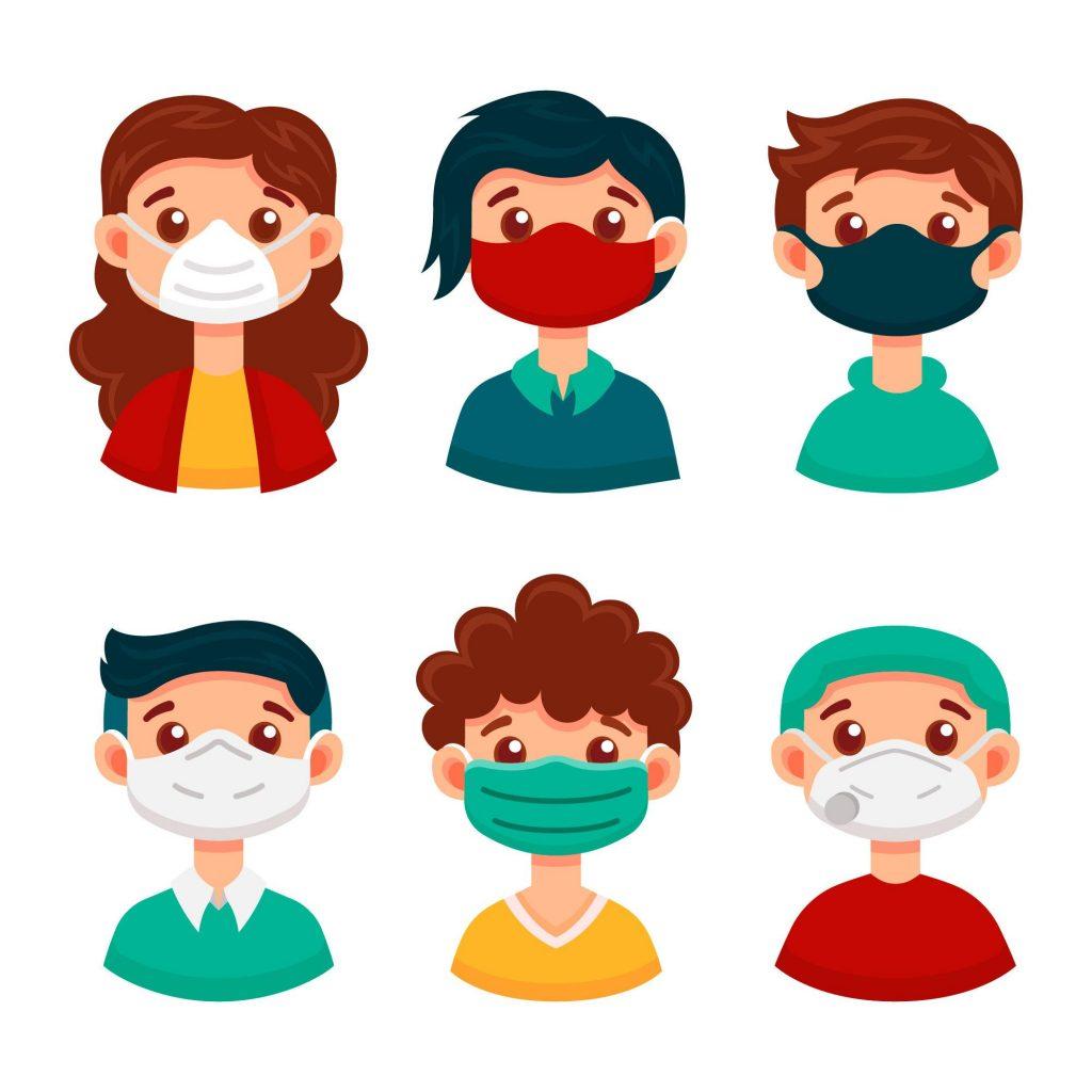 people wearing covid masks
