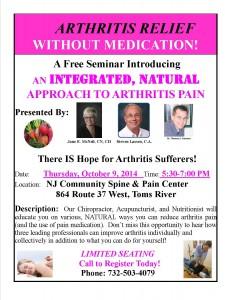 Arthritis Seminar Oct