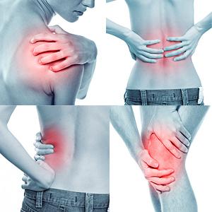 shoulder back hip knee joints pain